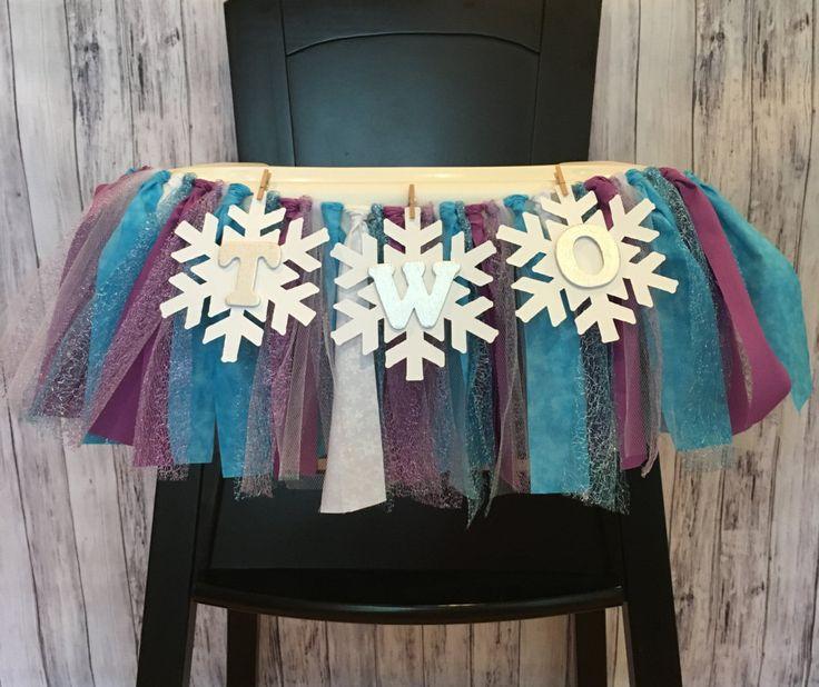Frozen Highchair Banner// Frozen Banner// Purple and Blue Frozen Banner // Winter ONEderland // Winter Wonderland // Winter Birthday by MKsBowtique on Etsy