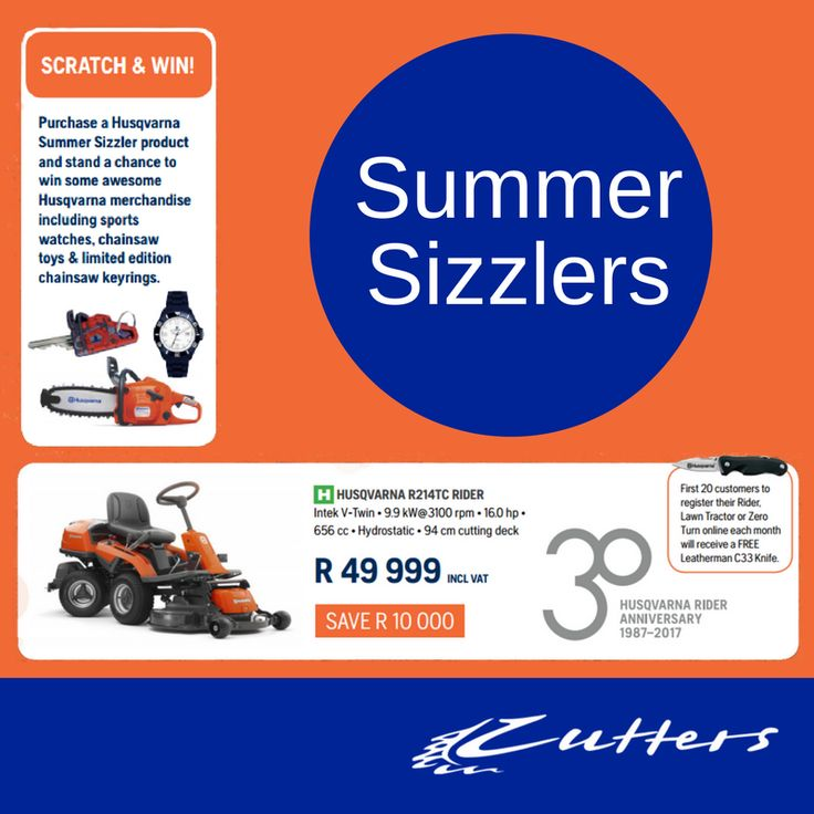 Take note of our Summer Sizzlers Scratch&Win promotion. Contact us for more information:  +27 82 320 3518/ +27 21 510 5131/ sales@cutters.co.za