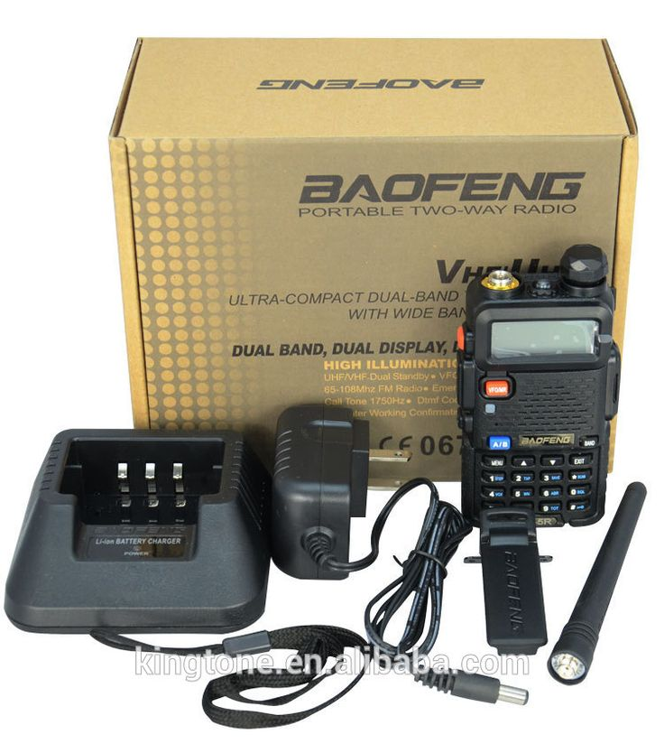 Baofeng UV-5R Dual Band UHF VHF Two-way Radio Walkie Talkie transceiver FM
