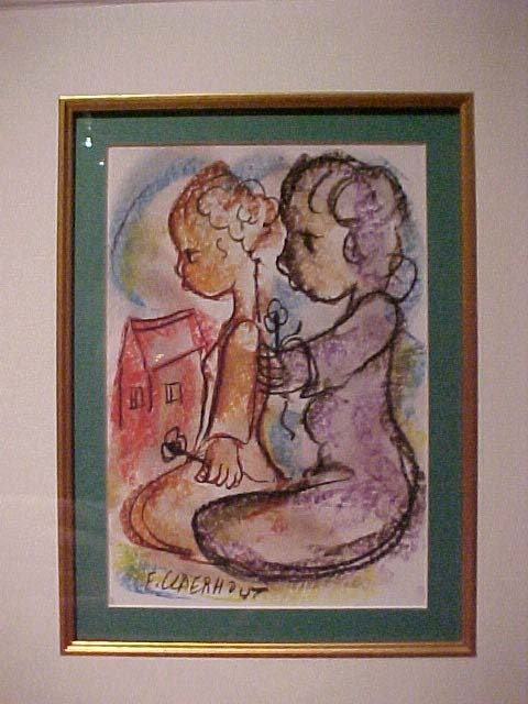 Girl with doll - Claerhout