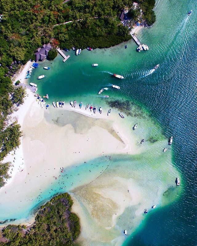 Ile Aux Cerfs, Mauritius seen from above! #droneheroes // Photo by @tomjauncey