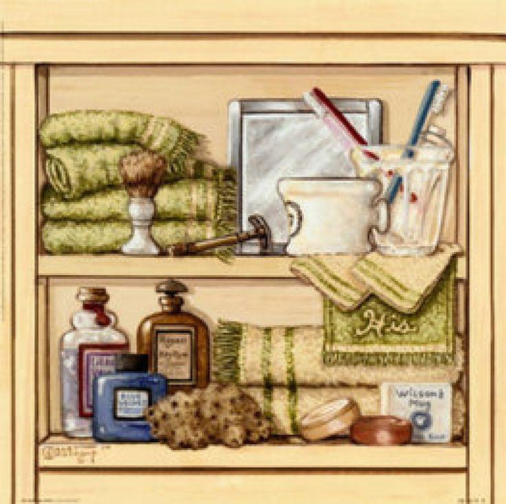 Laminas Baño Vintage:Más de 1000 imágenes sobre laminas decoupage para baño en Pinterest