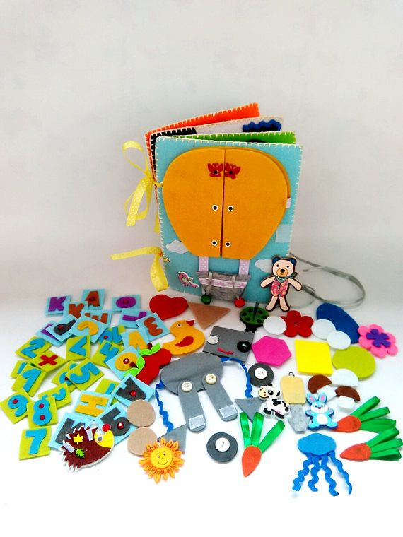 Quiet book Travel toy Busy book Educational book Hand made