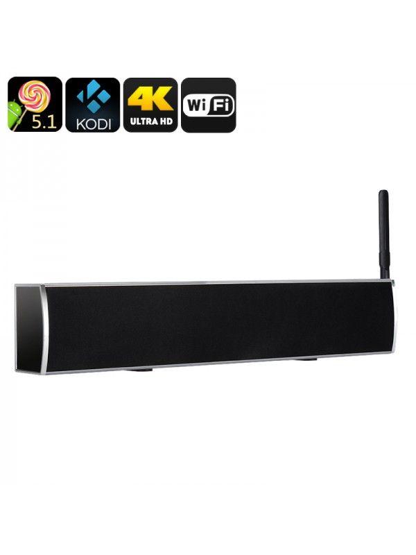 Anroid TV Box + Soundbar (Grey)
