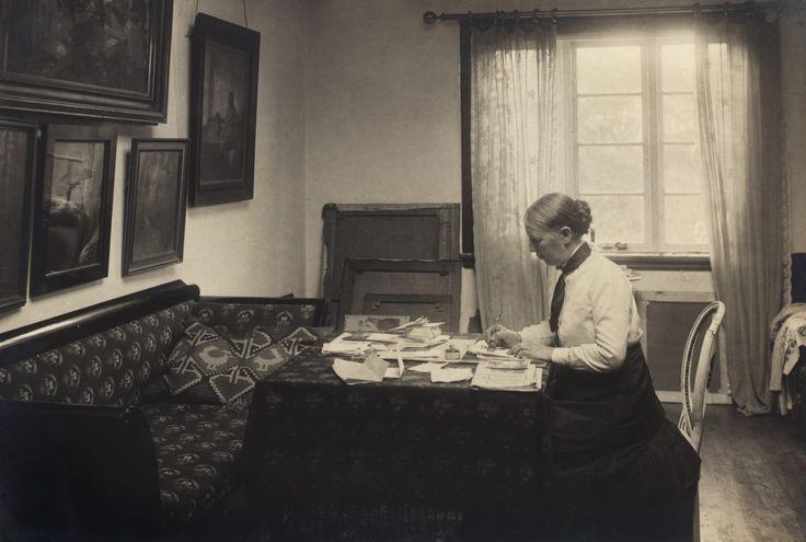 Anna Ancher in her atelier
