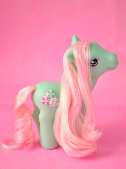 Pale green My Little Pony with pink hair