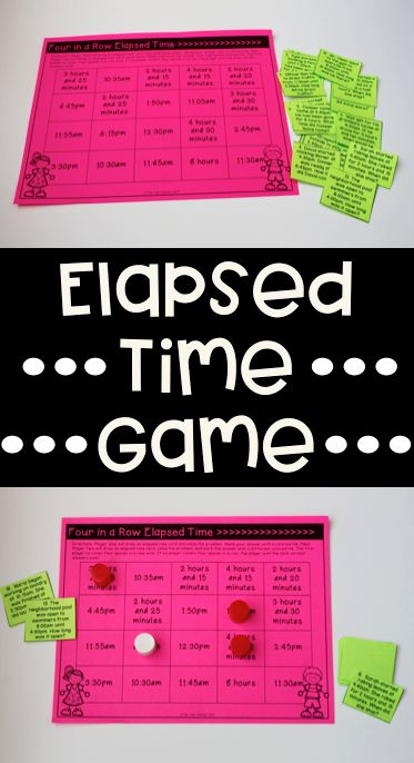 Elapsed Time Game that is print, cut, and go! Love this game for math small groups and guided math lessons. Students must find the elapsed time, start time, and end time.