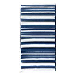 "ALSLEV rug, flatwoven, blue/white Length: 4 ' 11 "" Width: 2 ' 7 "" Surface density: 4 oz/sq ft Length: 150 cm Width: 80 cm Surface density: 1160 g/m²"