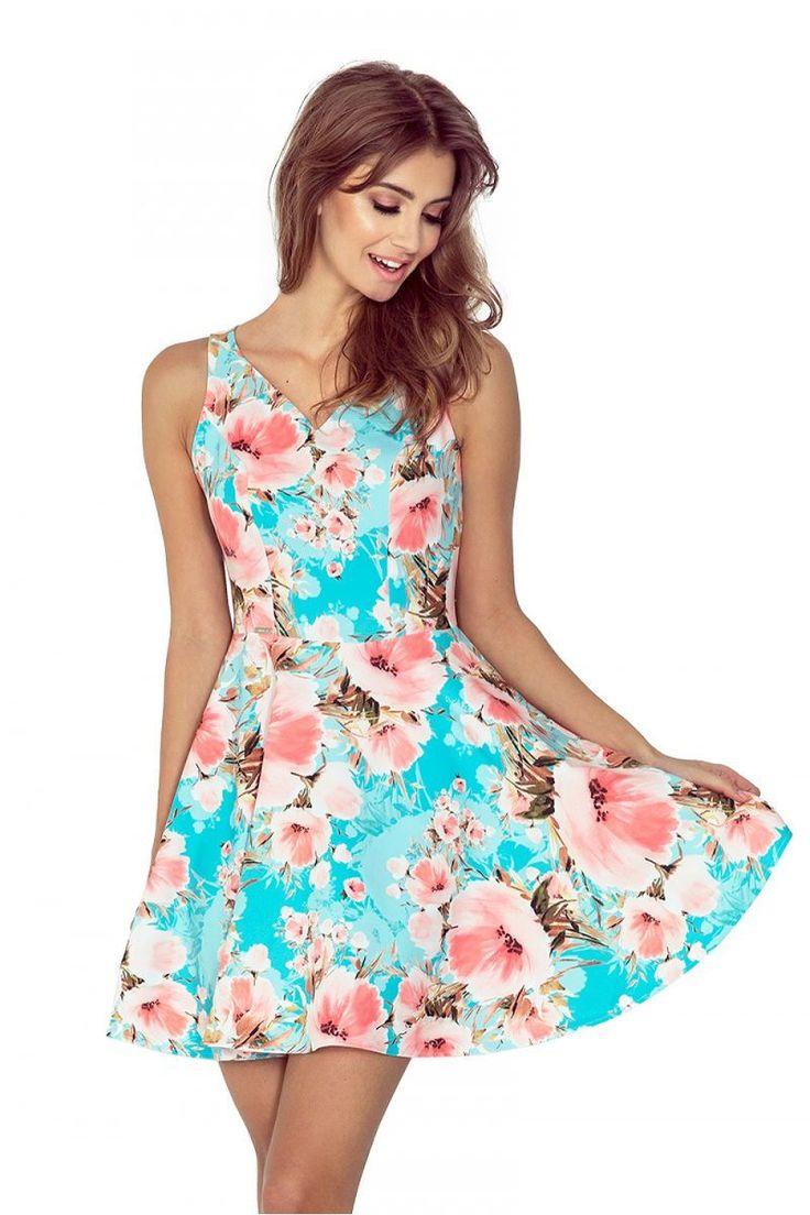 Φλοράλ ασύμμετρο φόρεμα.95% Polyester 5% Spandex
