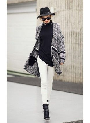 Knitwears - Clothing  US$46.24 Free shipping worldwide  #fashion #knitwear #jumper #grey
