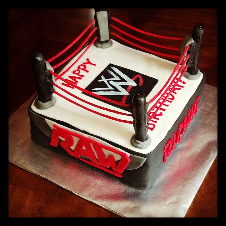 Edible Cake Images Wwe : WWE Raw cake for a little wrestling fan s birthday ...