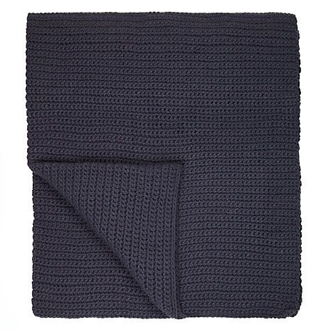 Buy John Lewis Croft Collection Flynn Ribbed Knit Throw Online at johnlewis.com