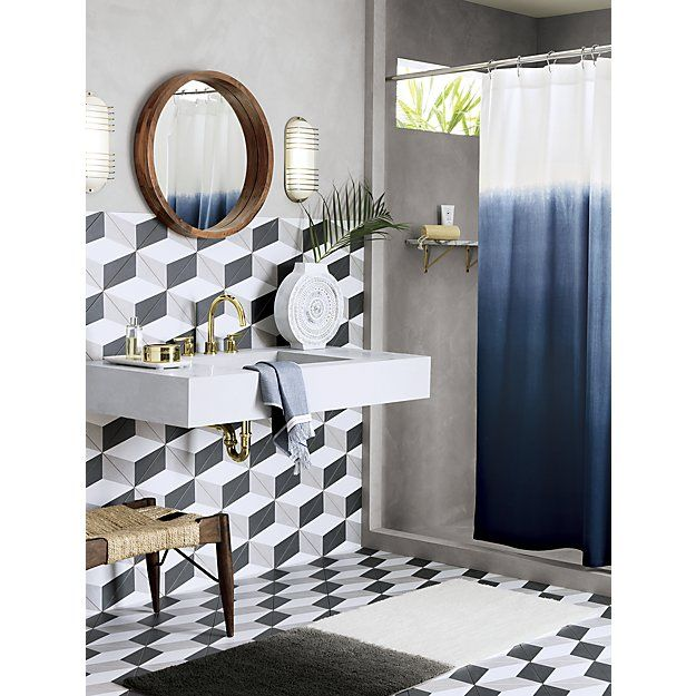 Bring your bathroom to life with unique shower curtains from CB2. Modern designs…