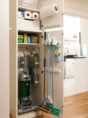 Need a cupboard like this next to the washing /dryer space....must also hold hoover