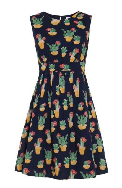 Emily & Fin Lucy Dress in Blooming Cacti