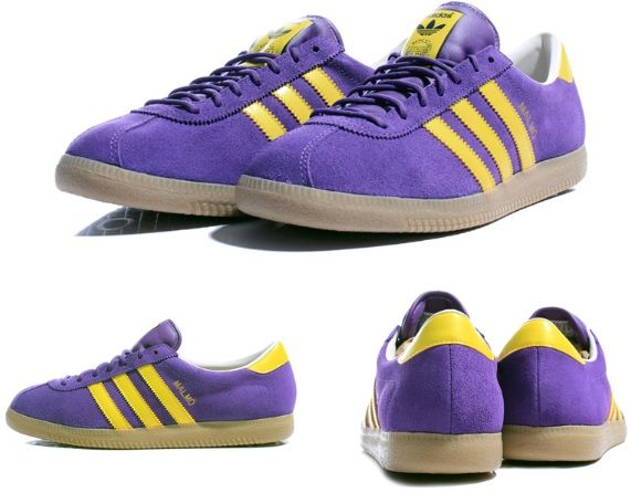 adidas yellow and blue trainers kit