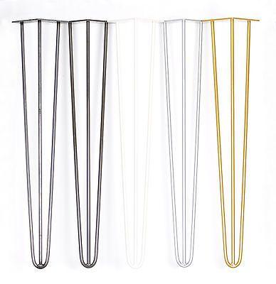 """4 x Hairpin le gambe del tavolo 28 """" / 71 cm-saldatura entro fori-Sabbiata-Polvere Cappotto-GOLDEN"""