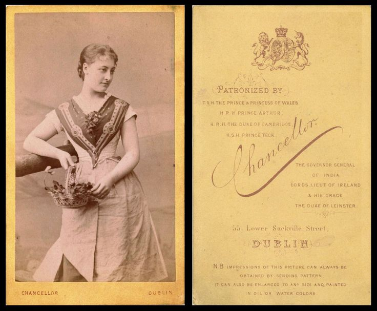 Studio CdV - Chancellor, 55 Lower Sackville Street, Dublin (unknown lady)