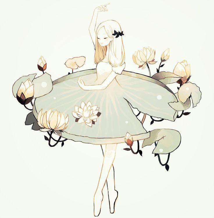 Anime Art & Stuff — tofuvi:   lilypad ballet.
