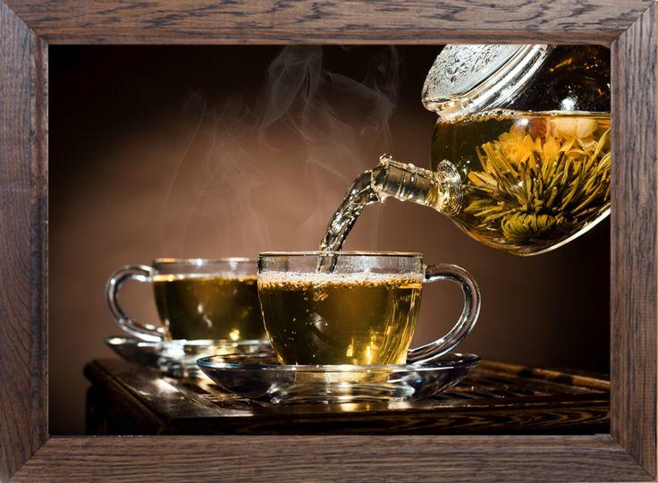 Patrząc na ten #obraz już czuć ciepło i aromat zielonej #herbaty. Idealny dodatek do wystroju kawiarni, restauracji lub Twojej kuchni. 8 modeli #ram do wyboru daje duże możliwości dopasowania ich do wnętrza.