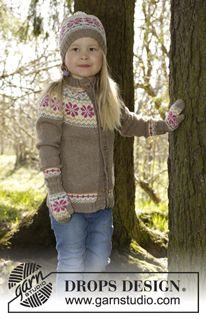 """Prairie Fairy Jumper - Knitted DROPS jumper with round yoke and Norwegian pattern in """"Lima"""". Size 3-12 years. - Free pattern by DROPS Design"""