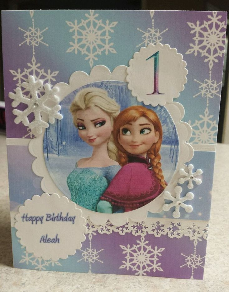 Handmade Frozen Invitation or Birthday Card | eBay