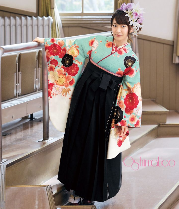 Kimono with hakama! This is so cute!