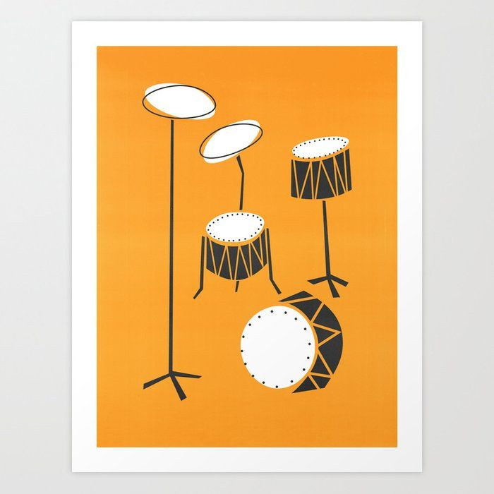 Buy Drum Kit Drummer Art Print By Foxandvelvet Worldwide Shipping Available At Society6 Com Just One Of Millions Of High Qua Drummer Art Art Prints Drum Kits