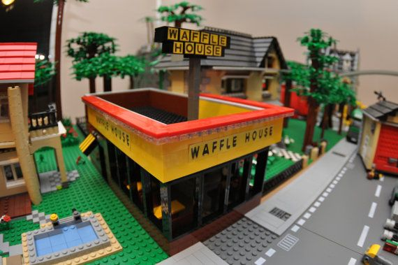 LEGO City Breakfast Shop Coffee Waffles by ABSDistributors on Etsy, $130.00