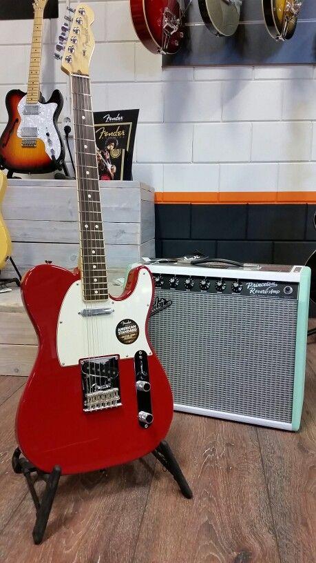 Fender FSR Telecaster Channelbound dakota red with PrincetonReverb-amp FSR Surf Green
