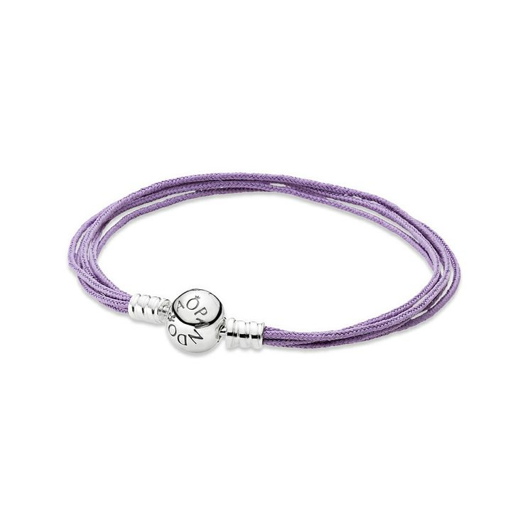 Lavender fabric bracelet, multistring, Silver - Pandora - Pandora - RoyalDesign.com #pandora #morsdag #mothersday #gifts #perfectgifts #jewellery #royaldesign #bracelet