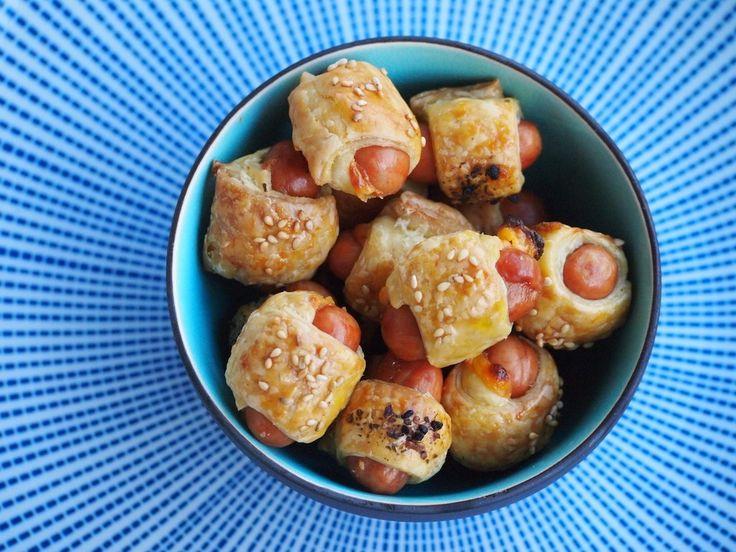 Mini Worstenbroodjes met bladerddeeg