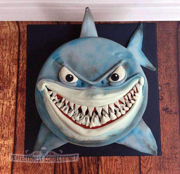 Bruce - Shark Birthday Cake