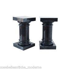 Colonna capitello in marmo nero vintage black marble column classic home design