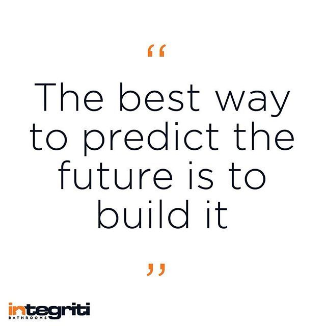 Monday is a great chance to build the week you want. Get your building started! #inspiration #integritibathrooms #integriti #instaquote #inspiration #igquote #igdaily #designquote #designerbathroom #designer #buildit