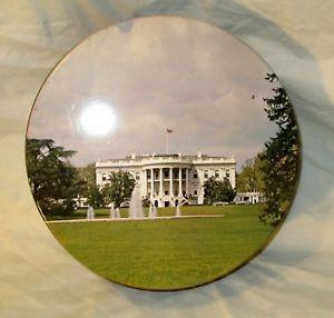 """White House Souvenir Tin JFK Kennedy Car South Lawn 1960s RARE Vintage 10"""""""