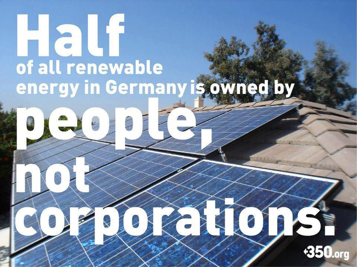 FACT: Half of all renewable energy in Germany is owned by people, not corporations.