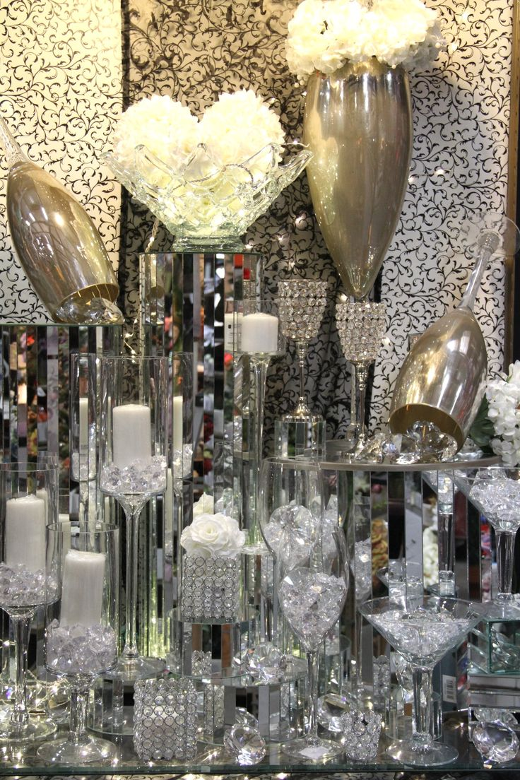 160 best sparkling bling decor images on pinterest for Bling decor