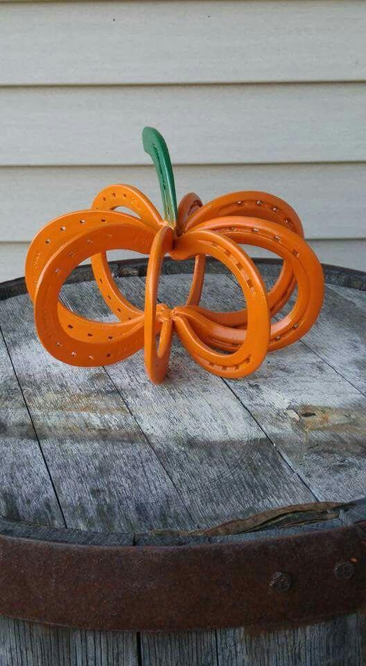 Horse shoe pumpkin