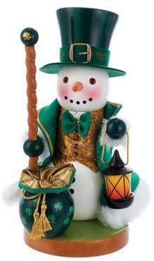 Kurt Adler Steinbach Irish Snowman Nutcracker