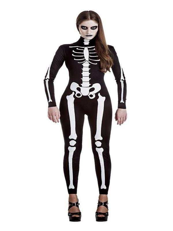 El disfraz de esqueleto para mujer, incluye Mono en DisfracesMimo.com