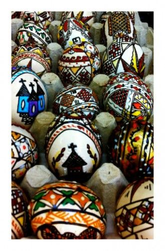 Romanian Easter- painted eggs