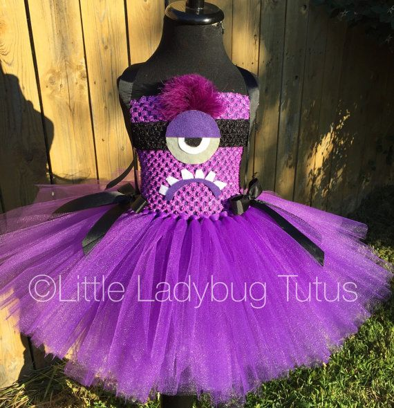 Evil Minion tutu dress by LittleLadybugTutus on Etsy