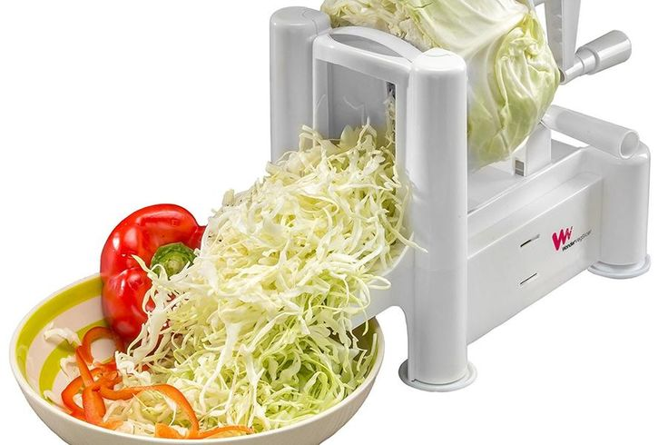 Vegetable Spiralizer - These 25 Ingenious Kitchen Tools Will Simplify Your Cooking Life  - Southernliving. Sure, you've heard of zoodling. But look at this. Cabbage, sliced and ready for fresh, crunchy coleslaw.  BUY IT: $23.97; amazon.com