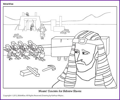 Coloring Moses Concern For Hebrew Slaves