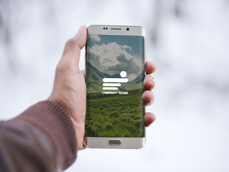 Samsung Mobile in Hand Mockup