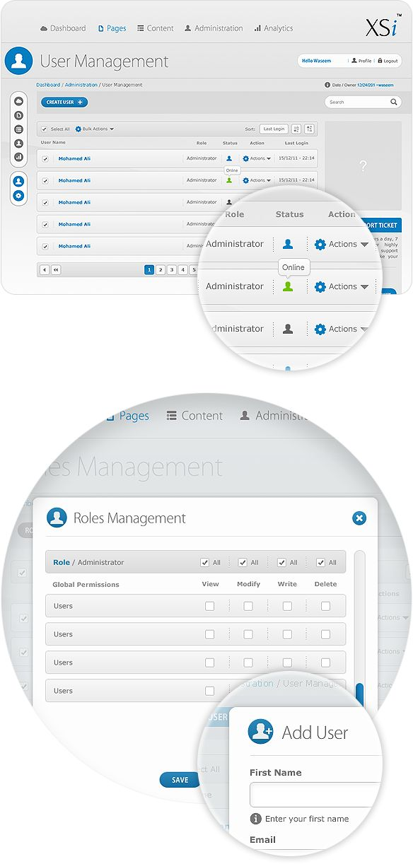 CMS - User Interface Design - UX by Waseem Arshad, via Behance