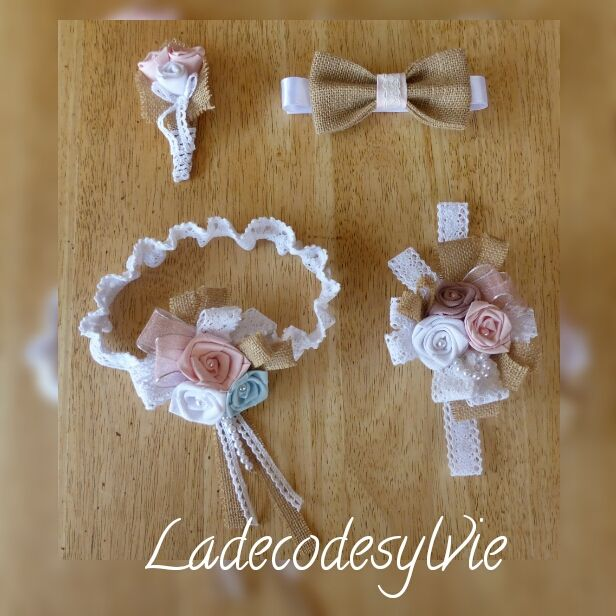 La Jarretière de La Mariée et ses accessoires assortis http://Ladecodesylvie.fr