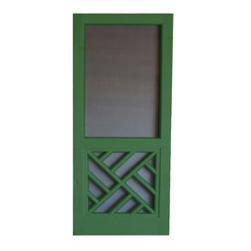Shop Screen Tight Chippendale 32-in Favorite Green Wood Screen Door at Lowes.com