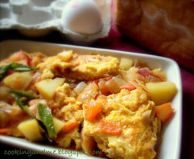 Omelette Curry Recipe - Omelette in a Spicy Gravy